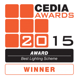 CEDIA 2015 Best Lighting Scheme WINNER