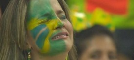 Brazil Fan on the Beach