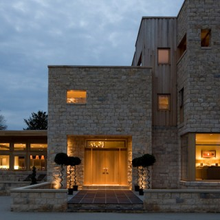 External lighting new build stone house