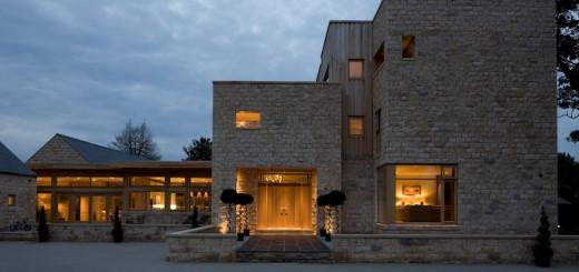 External lighting new build stone house